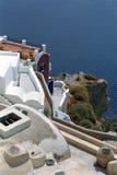 Isola di Fira Santorini, Grecia fotografie stock