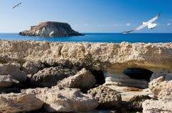Isola di Georgios di aggi. Akamas Immagine Stock