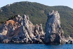 Isola di Giglio - Faraglioni Delle Scole Fotografia Stock Libera da Diritti