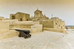 Isola di Gozo della fortezza della cittadella, Malta Fotografie Stock Libere da Diritti