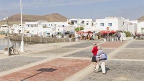 Isola di Graciosa, Spagna, vista urbana. Immagine Stock