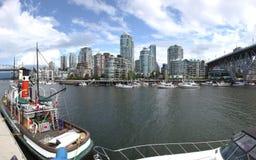 Isola di Granville & alte dimore di aumenti, Vancouver Fotografia Stock Libera da Diritti