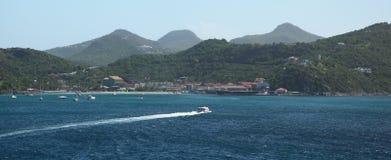 Isola di Gustavia St Barthelemy, caraibica Fotografia Stock Libera da Diritti