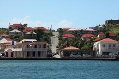 Isola di Gustavia St Barthelemy, caraibica Immagini Stock Libere da Diritti