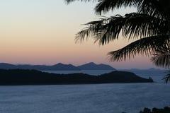 Isola di Hamilton al crepuscolo fotografia stock libera da diritti