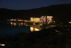 Isola di Hamilton entro la notte Fotografia Stock