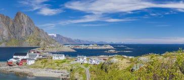 Isola di Hamnoy, in Norvegia del Nord Il vill norvegese di pesca Fotografie Stock