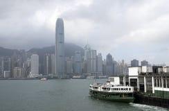 ISOLA di HONG KONG e traghetto della stella Fotografia Stock