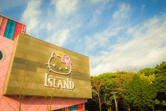 Isola di Jeju, Corea - 12 novembre 2016: I HEL visitati turistici Fotografia Stock Libera da Diritti