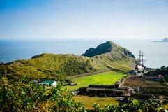 Isola di Jeju, COREA - 12 novembre: Il turista ha visitato Sanbanggul Immagine Stock Libera da Diritti