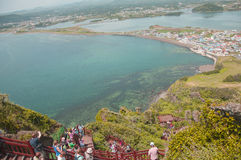 Isola di Jeju, COREA - 12 ottobre: SONGSAN ILCHULBONG a Jeju fanno, Immagini Stock Libere da Diritti