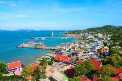 Isola di Koh Si Chang in Chonburi Fotografia Stock Libera da Diritti