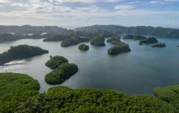 Isola di Koror a Palau Arcipelago, parte della regione della Micronesia fotografie stock