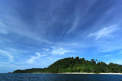 Isola di Kradan, isola nel mare delle Andamane, Trang, Tailandia Fotografia Stock