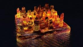 Isola di lava in futuro illustrazione vettoriale
