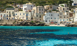 Isola di Levanzo. The bay at Levanzo, Sicily, Italy Royalty Free Stock Photos