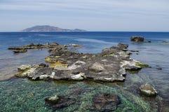 Isola di Levanzo. View from Favignana to Levanzo Island, Sicily, Italy Stock Photo