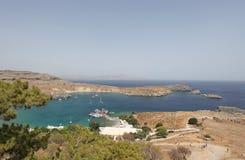 Isola di Lindos Rodi, Grecia Fotografia Stock Libera da Diritti