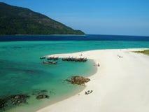 Isola di Lipe, mare di Andaman, Tailandia fotografia stock