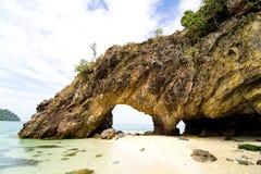 Isola di Lipe - situata in Tailandia del sud Fotografia Stock Libera da Diritti