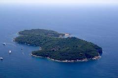 Isola di Lokrum Immagini Stock Libere da Diritti