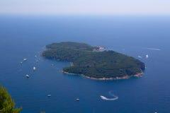 Isola di Lokrum Fotografia Stock