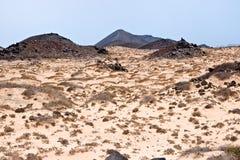 Isola di Los Lobos, Fuerteventura, fotografia stock libera da diritti