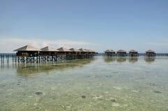 Isola di Mabul, Semporna, Sabah Immagini Stock Libere da Diritti