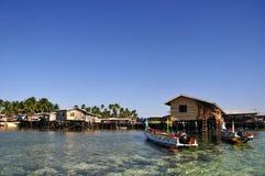 Isola di Mabul, Semporna, Sabah Immagine Stock Libera da Diritti