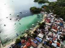 Isola di Malapascua da sopra - le Filippine fotografie stock libere da diritti