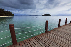 Isola di Manukan al Borneo, Sabah, Malesia Fotografia Stock Libera da Diritti