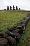 Isola di Moai- pasqua, Cile Fotografia Stock Libera da Diritti