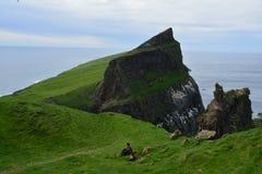 Isola di Mykines nelle isole faroe fotografie stock libere da diritti