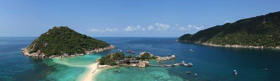 Isola di Nangyuan di panorama in Tailandia Fotografia Stock Libera da Diritti