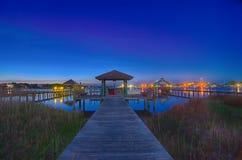 Isola di Ocracoke a paesaggio di notte Fotografia Stock