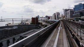 Isola di Odaiba Linea Yurikamome Ponte dell'arcobaleno fotografia stock