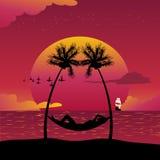 Isola di paradiso illustrazione vettoriale