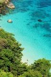 Isola di paradiso di estate dalla vista superiore Fotografia Stock Libera da Diritti