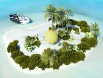 Isola di paradiso per due Fotografia Stock