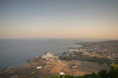 Isola di Paros in Grecia Vista dalla cima di un'alta montagna Fotografia Stock Libera da Diritti
