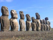 Isola di pasqua - Ahu Tongariki Fotografie Stock Libere da Diritti