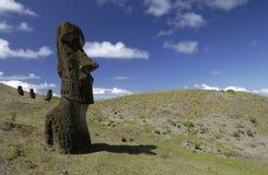 Isola di pasqua - Moai - Cile Immagine Stock Libera da Diritti