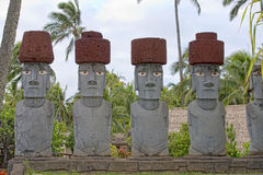 Isola di pasqua -, testa di singolo moai Fotografia Stock
