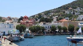 Isola di Patmos La caverna dell'apocalisse immagine stock
