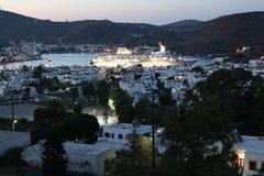 Isola di Patmos La caverna dell'apocalisse fotografia stock libera da diritti