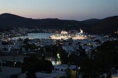 Isola di Patmos La caverna dell'apocalisse fotografie stock