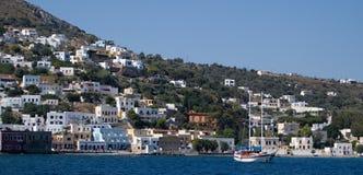 Isola di Patmos La caverna dell'apocalisse immagini stock