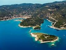 Isola di Paxi, vista aerea Fotografie Stock Libere da Diritti