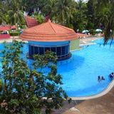 Isola di Penang della piscina dell'hotel fotografie stock libere da diritti