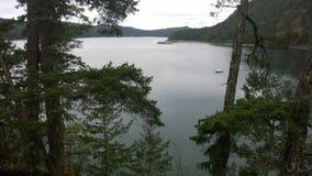 Isola di Pender, golfo di George, Columbia Britannica, Canada Fotografie Stock Libere da Diritti